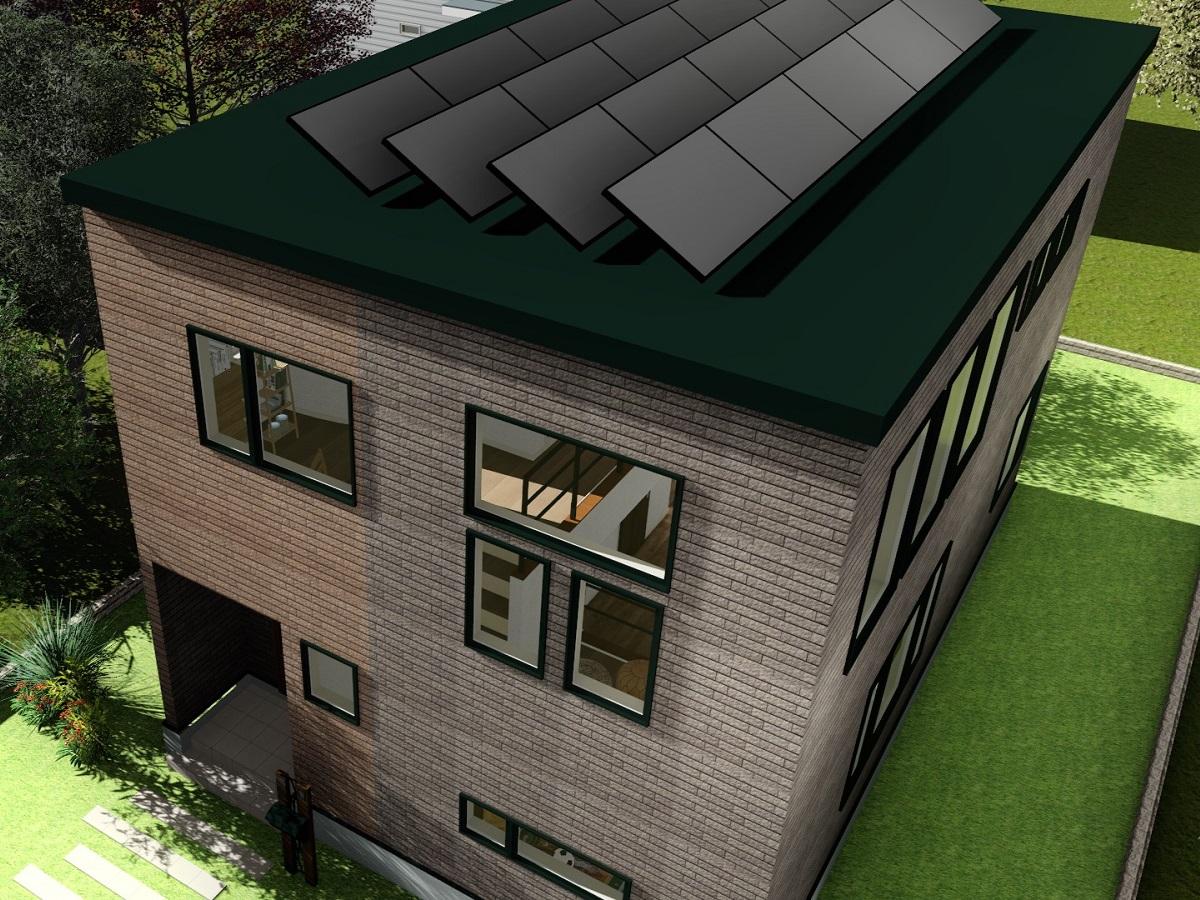 生涯設計を考えて太陽光発電を搭載。