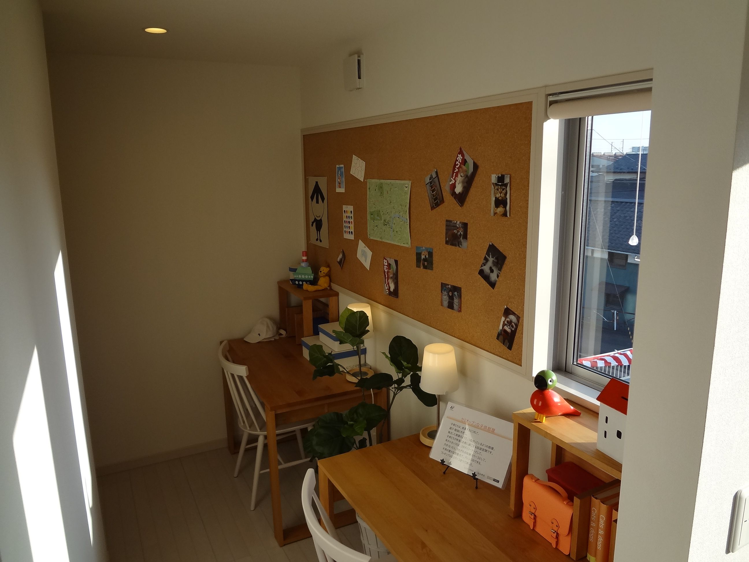 兄妹が触れ合いながら共に成長し合える空間を、子ども部屋にプラスしました。