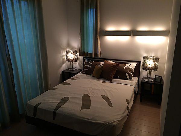子世帯のマスターベッドルーム。