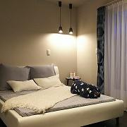 落ち着いたベッドルームは、一日の疲れを癒すくつろぎの空間です。大容量のウォークインクローゼットも魅力的です。