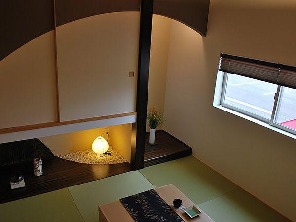 リビングと階層を隔てて緩やかにつながる、現代風和室は、6層だからこその空間の提案です。