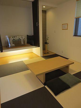 DKと繋げて使うことはもちろん、おもてなしの客間としても使えるくつろぎの和室空間。