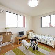 家族それぞれの時間を大切にした個室空間。各部屋にも収納スペースを設けているので、いつもお部屋を広く美しく使うことができます。