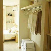 主寝室に大型クローゼットがあればお部屋も広々使えます。