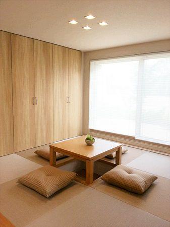 小上がり部分を使った床下収納と、掘りごたつの和室。