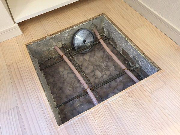 ユニバーサルホームは『エコ床暖(1階全室床暖房)』が標準仕様なので、家全体があたたかく、寒い冬でも快適です。※1階全室に玄関および浴室は含まれません。