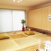 キッチンの前には小上がりの和室。