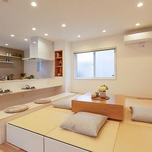 小上がり畳スペースはユニット式で移動もできます。