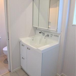 清潔で便利な洗面化粧台