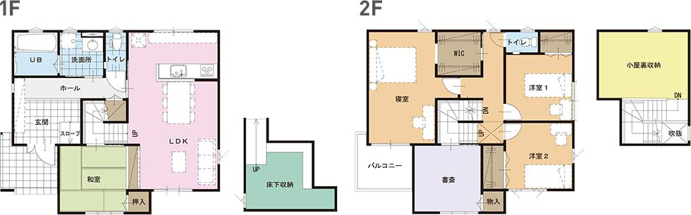 モデルハウス(住宅展示場)平塚店の間取り