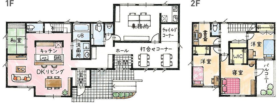モデルハウス(住宅展示場)掛川店の間取り