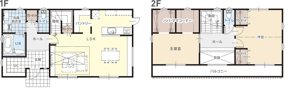 モデルハウス(住宅展示場)京都山城店の間取り