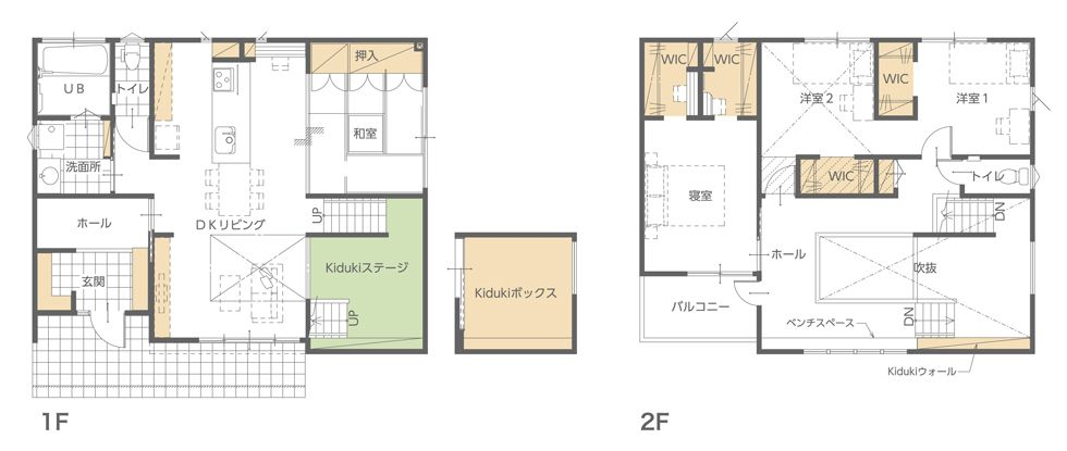 モデルハウス(住宅展示場)岸和田店の間取り