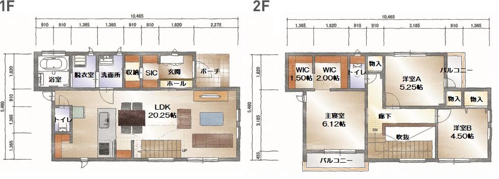 モデルハウス(住宅展示場)武蔵野店(街かど注文住宅:成城の家)の間取り