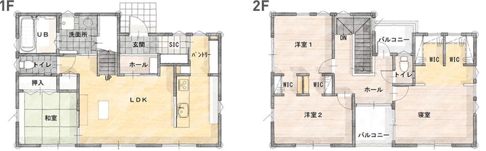 モデルハウス(住宅展示場)益田店の間取り