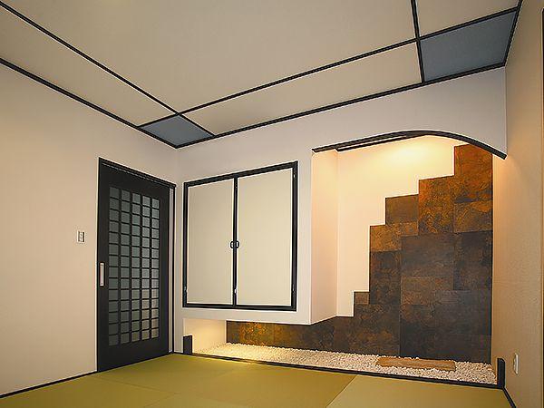 壁、天井に至るまで、こだわり抜いた現代和室。掘りごたつもあって、心安らぐ空間が完成しました。
