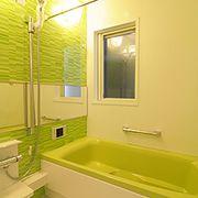 明るいお風呂に入り、リラックス。疲れを和らげてくれます。