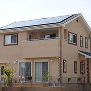 太陽光・エコウィル採用の発電の家