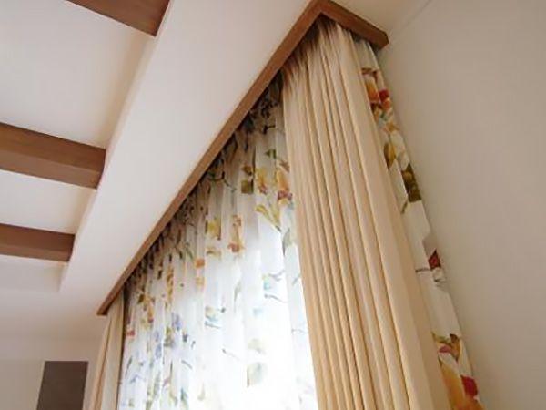 お部屋に合わせたカーテンが素敵です。