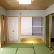 2間続きの和室で和風かつ明るさをもった空間に仕上げてあります。