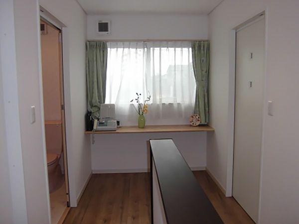 2階ホールはスタディコーナーとしても活用できる、+αの空間を設けています。