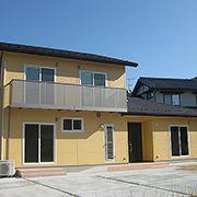 外観だけでなく、プランにもこだわった二世帯住宅です。