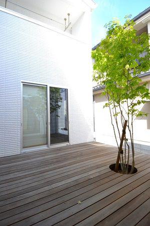 中庭は隣家の視線が気にならないプライベートスペースです。