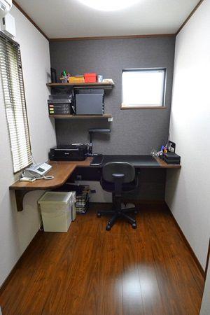 背中側には奥行きのある書庫もあり、使い勝手が良くご主人の仕事もはかどります。