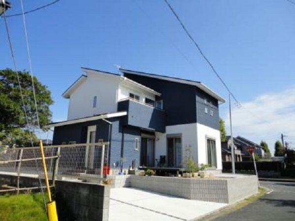 どの方向からお家を見てもキレイに見えるように、色分けされています。