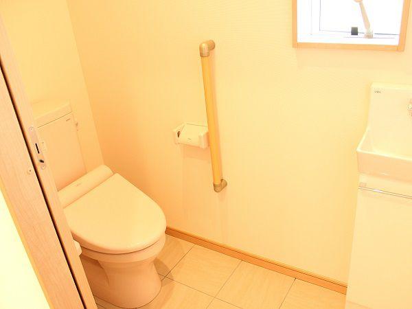 トイレのドアを引き戸にしました、お年を召されても楽に出入りが出来ます。
