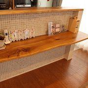 カフェ風のキッチン前カウンター