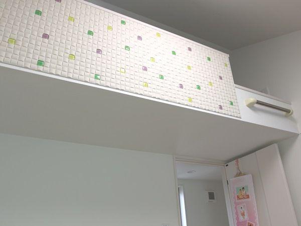 子ども部屋のロフト部分もモザイクタイルでかわいさアップ♪