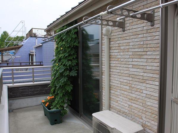 広々としたバルコニーで家庭菜園を楽しめます!
