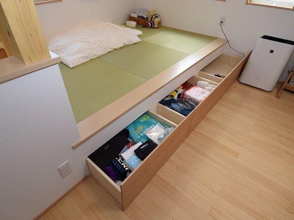 小上がりの畳コーナーは引き出し収納付きで機能性もバツグン