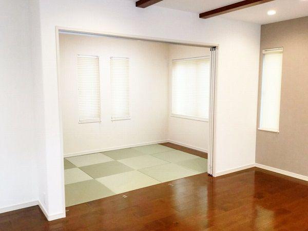和室はリビングと隣接しています。