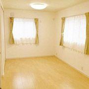 大きな子ども部屋は、将来的に2つに区切れるようにしてあります。