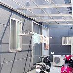 中庭はもちろん、駐輪場・洗濯干場にも変身する多機能空間
