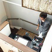 kidukiBoxはお子様のスペース、ステージはご主人様のスペースとして活躍中。アメリカンビンテージテイストが好きなご夫婦の趣味が伺えます