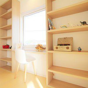 2階にフリースペースを設けることで、家族みんなの趣味スペースとして使えます。
