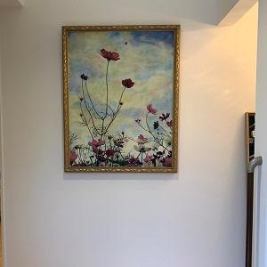 美術館のように絵画の映える空間になりました。