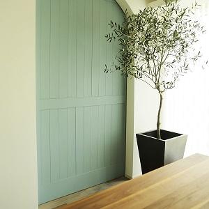 造作(大工さんの手作り)の扉は白い壁の中でアクセントになっており、 閉まっているだけで絵になります!