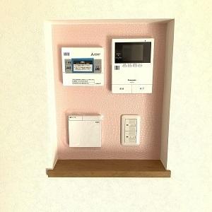 白と緑色のお家にココだけピンク!! 可愛いです(*´ω`*)