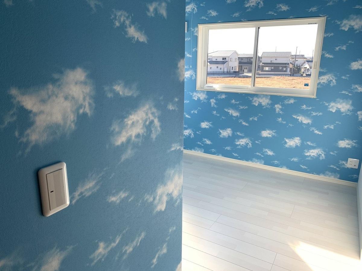 青空の広がるお部屋です