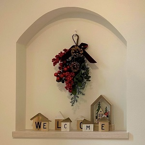 キレイに飾られたニッチは、ご家族も、訪れる人たちも、ほっこりさせてくれます。
